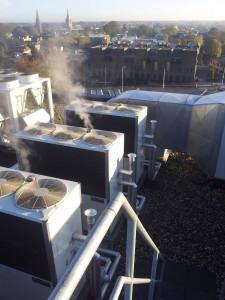 De Driemark Gerrit Komrij college te Winterswijk Gas Warmtepomp klimaatsysteem koelen verwarmen