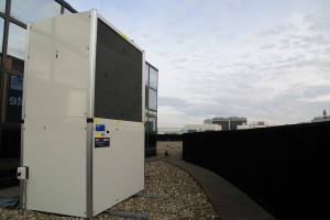 USG Amsterdam Gaswarmtepomp klimaatsysteem dak